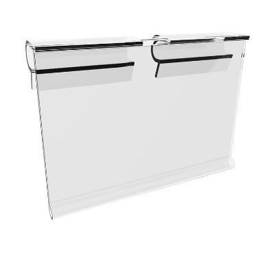 Porte étiquette pour broche blister de gondole