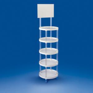 presentoir-plastique-plv-ronde-cinq-etagere