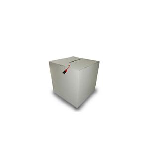 Urne de vote en carton blanc capacite 200 bulletins