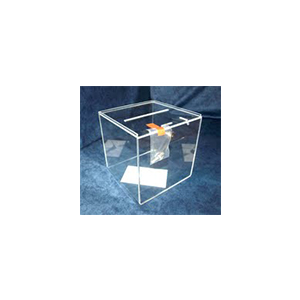 Urne en plexiglass transparent avec serrure