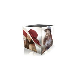 cube en carton imprime
