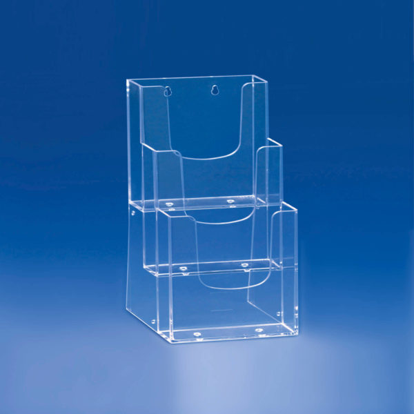 Porte-Brochure-3-cases-étagées-A4