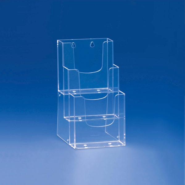 Porte-brochure-3-cases-étagées-A5
