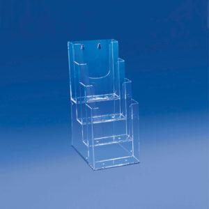 Porte-brochure-4-cases-étagées