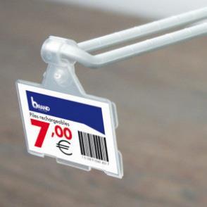 Porte etiquette pour broche double ou broche blister