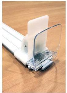 Poussoir Sécable 50 mm (L) avec butée droite