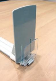 Poussoir Sécable 80 mm (L) avec butée droite